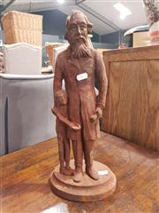 Sale 8889 - Lot 1065 - Cast Metal Father and Son Figure