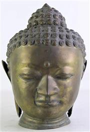 Sale 8931 - Lot 86 - Metal Thai Buddha Head H:33cm