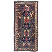 Sale 8914C - Lot 42 - Caucasian Antique Kazak Rug, Circa 1940, 277x110cm, Handspun Wool