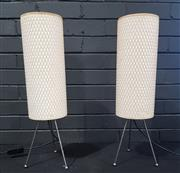 Sale 8979 - Lot 1025 - Pair of Contemporary Table Lamps (h:59cm)