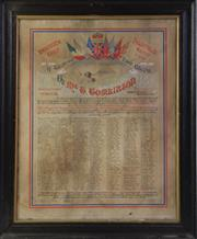 Sale 8994W - Lot 616 - A Framed And Hand Coloured Petition From Tribute to Mr G Tomlinson From Racecourse Camp In Heliopolis (Some Wear) (68cm x 55cm)