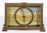Sale 9007 - Lot 18 - Small Swiss made decorative desk or strut clock (W12cm)