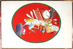 Sale 9252A - Lot 5052 - CHARLES BLACKMAN (1928 - 2018) Alice in Wonderland, 1976 screenprint, ed. 52/75 (AF - foxing) 70 x 82 cm (frame: 82 x 123 x 3 cm) si...