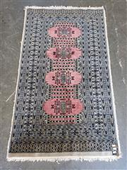 Sale 9080 - Lot 1053 - Persian Black and Pink Turkoman (90 x 63cm)
