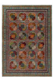 Sale 9082C - Lot 68 - Afghan Revival Turkoman Rug, 200x290cm, Handspun Wool
