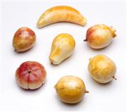 Sale 9090 - Lot 58 - Collection of Carved Marble Fruit incl. Banana, Pear, Apple, etc. (some minor losses)