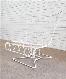 Sale 9117 - Lot 1089 - Modernist design metal frame chair (h90 x w70 x d75cm)