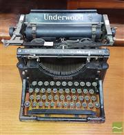 Sale 8409 - Lot 1051 - Vintage Underwood Typewriter
