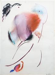 Sale 8410A - Lot 5025 - Anne Hall (1945 - ) - Untitled, 1965 (Abstract Portrait) 76.5 x 56cm (sheet size)