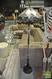Sale 8440 - Lot 1032 - Leadlight Shade Standard Lamp