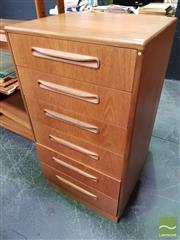 Sale 8493 - Lot 1008 - G-Plan Teak Six Drawer Tallboy Chest