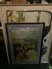 Sale 8648B - Lot 2090 - 2 Framed Poster Prints Jane Avril, & Iberian & Mediterranean Hotels Co. Ltd.