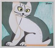 Sale 8821A - Lot 5083 - Tomoo Inagaki (1902-1980) - Untitled (Cat), c1940 11 x 12cm