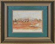 Sale 8932 - Lot 2053 - South African School - Artillery Barracks, Pretoria, 1903 watercolour 14.5x22cm, inscribed and signed -
