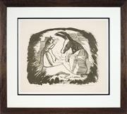 Sale 8936 - Lot 2056 - Charles Blackman (1928 - 2018) - Titania and Bottom 35 x 45 cm