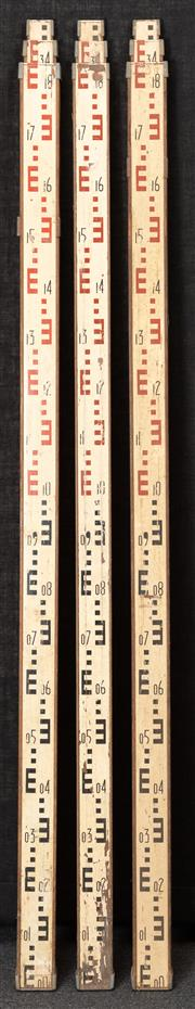 Sale 8984W - Lot 531 - Three surveyors measures, with three phase extension. 193cm unextended.