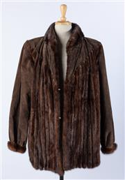 Sale 9003F - Lot 41 - A Pierre Cardin Chocolate Brown Ladies Suede/Mink Jacket, Size M