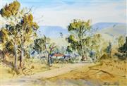 Sale 9002A - Lot 5044 - John Borrack (1933 - ) - Homestead in the Hills 36 x 53 cm
