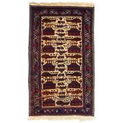 Sale 9082C - Lot 69 - Afghan Rare & Fine Pictorial War Rug From The Private Collection Of The Cadry Family, 195x105cm, Handspun Wool