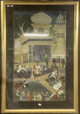 Sale 9103 - Lot 2094 - Indo-Persian painting of Courtly Gathering, 113 x 74cm