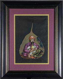 Sale 9137A - Lot 5038 - Artist Unknown - The Snake Charmer 22 x 15 cm (frame: 37 x 30 x 2 cm)