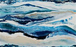 Sale 9154JM - Lot 5060 - WENDY LE GRANGE (1958 - ) Breaking Waves mixed media on canvas 76 x 102 cm signed verso