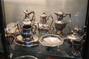 Sale 8351 - Lot 85 - Elkington Silver Plated Wares with Other Silver Plate incl Teapots