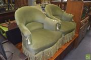 Sale 8390 - Lot 1202 - Pair of Tub Chairs