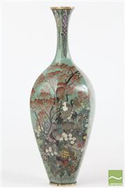 Sale 8516 - Lot 34 - Good Cloisonne Hexagonal Vase Signed Possibly Namikawa Yasuyuki
