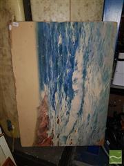 Sale 8544 - Lot 2067 - Robert Sydney Cocks - The Relentless Sea 59 x 82cm