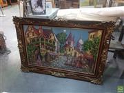 Sale 8595 - Lot 2096 - Ornate Timber Framed Tapestry