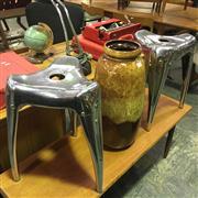 Sale 8643 - Lot 1068 - Pair of Yasu Sasamoto Stools