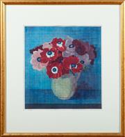 Sale 8882H - Lot 91 - Wako Ito, XX, Anemone, Intaglio Print/ Woodcut, SLR, details verso 1976 edition 62/125, image size 31cm x 29cm