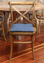 Sale 8904H - Lot 4 - A set of four crossback elbow chairs in oak.