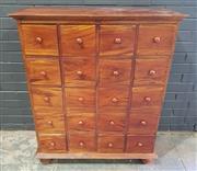 Sale 8979 - Lot 1052 - Timber Chest of Twenty Drawers (h:114 x w:96 x d:38cm)