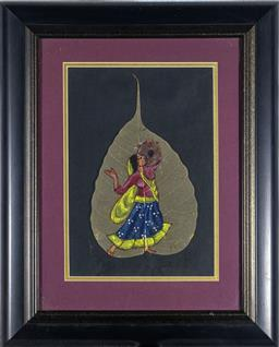 Sale 9137A - Lot 5039 - Artist Unknown - Indian Figure 22 x 15 cm (frame: 37 x 30 x 2 cm)