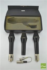Sale 8370 - Lot 1870 - Set Of 3 AKG Microphones In Carry Case (Model No. D202 CS)