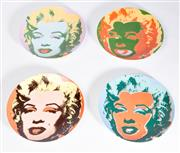 Sale 8575J - Lot 53 - Andy Warhol, a set of 4 assorted Coupe plates, The Marilyn Munroe series, produced under license by Blockchina of New York City,...