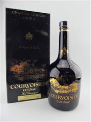 Sale 8439 - Lot 701 - 1x Courvoisier Chateau Limoges Extra Cognac - limited edition in Limoges Porcelain 750ml bottle with certificate in box