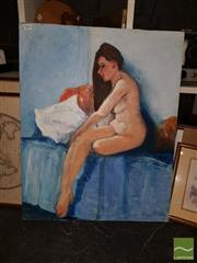 Sale 8544 - Lot 2068 - James Radford - Brunette (Nude) 76 x 61cm
