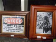 Sale 8557 - Lot 2077 - 2 Prints: Railway Accident & Danger Sign