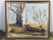 Sale 8649R - Lot 38 - Elliot - Oil on  Board (603 x 50cm)