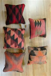 Sale 8643C - Lot 98 - 5 x Persian Kilim Cushions 40cm x 40cm