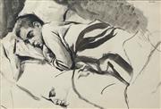 Sale 8722A - Lot 5085 - Brian Dunlop (1938 - 2009) - Man Sleeping 28 x 42cm