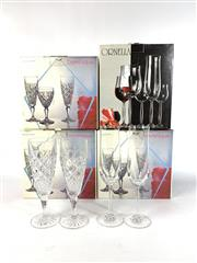 Sale 8747 - Lot 52 - Bohemia Lead Crystal Glass Champagne Flutes (18) Together with A Set of 6 Wine Glasses