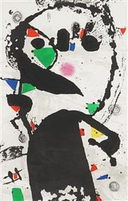 Sale 8821 - Lot 575 - Joan Miro (1893 - 1983) - Maitre a BordMaître a bord 87 x 64cm