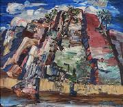 Sale 8901A - Lot 5047 - Harald Vike (1906 - 1987) - Rock Face 34.5 x 30.5 cm