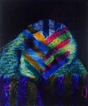 Sale 8976A - Lot 5018 - Sidney Nolan (1917 - 1992) - Untitled (Blue Portrait) 30.5 x 25.5 cm (frame: 56 x 50 x 4 cm)
