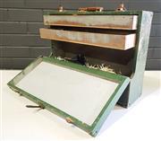 Sale 8979 - Lot 1086 - Vintage Timber Toolbox (h:16 x w:45 x d:38
