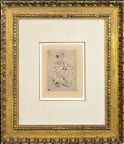 Sale 8301A - Lot 92 - Paul Cezanne (1839 - 1906) - Portrait of Guillamin 11 x 15cm